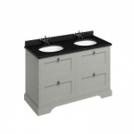 Freestanding 130 Vanity Unit with drawers -Black Granite Worktop